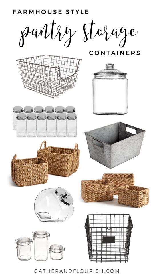 Farmhouse Style Pantry Storage – Gather and Flourish