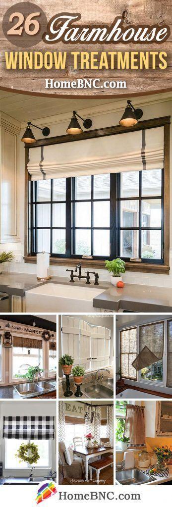 Farmhouse Window Treatment Ideas – pickndecor.com/furniture