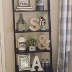 Farmhouse ladder shelf. Farmhouse decor. Farmhouse living room. Farmhouse style…. - pickndecor.com/furniture