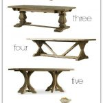 Favorite Farmhouse Trestle Tables (& Progress on Our Kitchen Banquette)