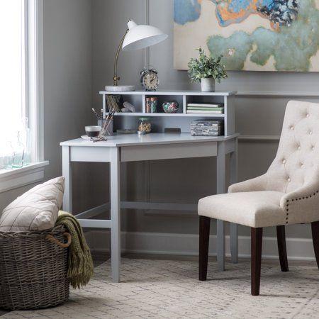 Finley Home Gray Corner Laptop Writing Desk with Optional Reversible Hutch – Walmart.com