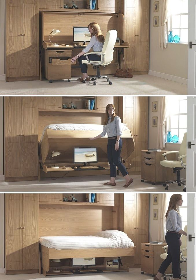 First-rate space saving folding bed. Ana White #folding #bed #bedroom #home #dec…