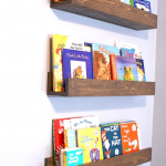 Floating Book Shelf/Magazine Shelves/Nursery Book Shelf/Playroom Book Shelf/Display Shelf/Floating Book Shelf/Book Shelf/Wood Book Shelf