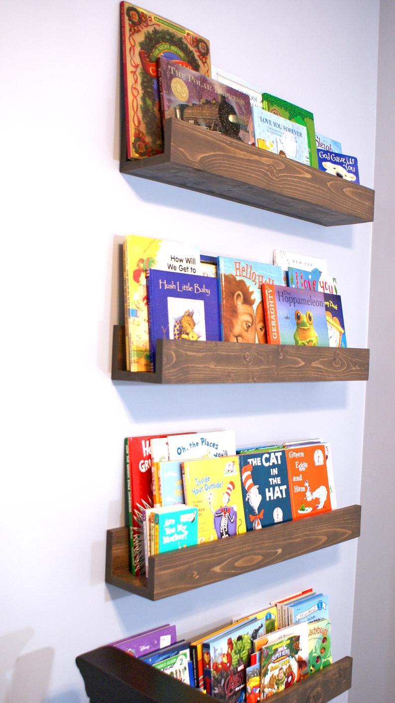 Floating Book Shelf/Magazine Shelves/Nursery Book Shelf/Playroom Book Shelf/Display Shelf/Floating Book Shelf/Book Shelf/Wood Book Shelf