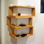 Floating Wrap Around Wall Shelves, Wall Mounted Mitred Corner Shelving Unit, Large Entryway Organizer, key organizer, Phone Mail Holder,