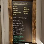 Framed Chalkboard Kitchen Menu or Grocery List