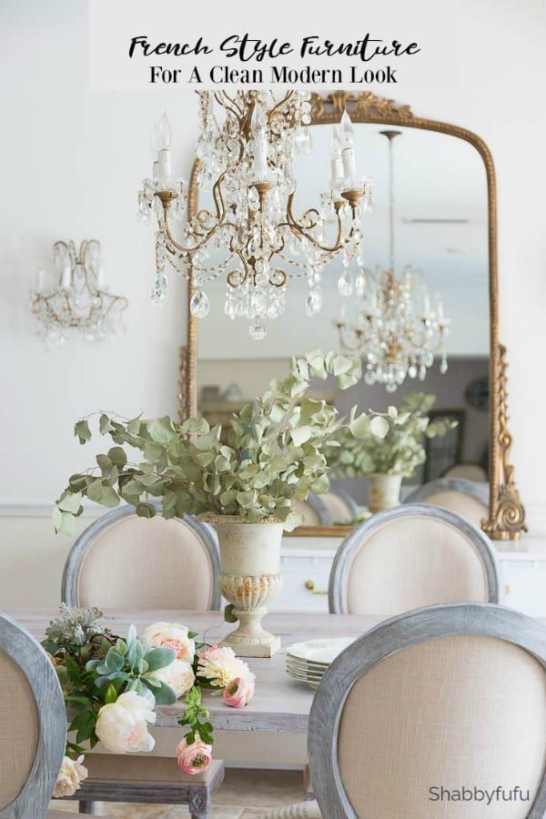 French Style Furniture and Chandelier Updates
