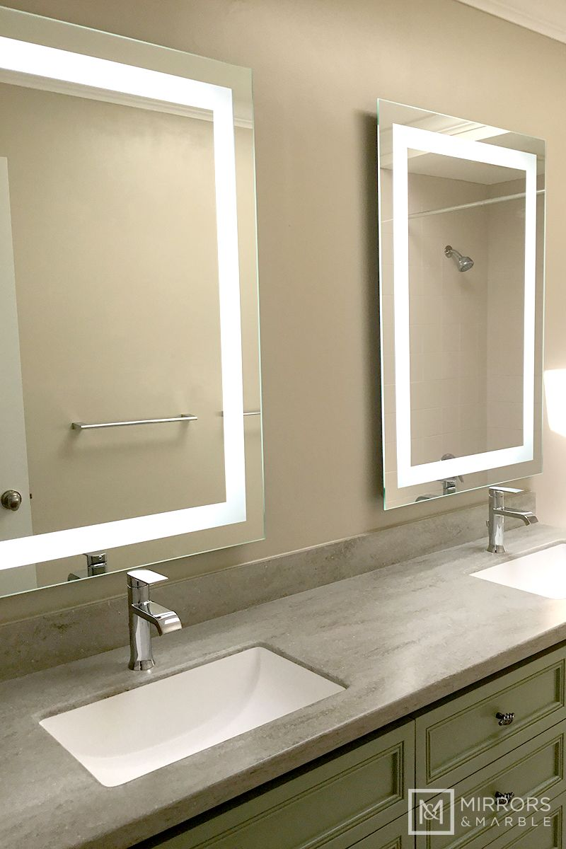 Front-Lighted LED Bathroom Vanity Mirror: 28″ x 40″ – Rectangular – Wall-Mounted