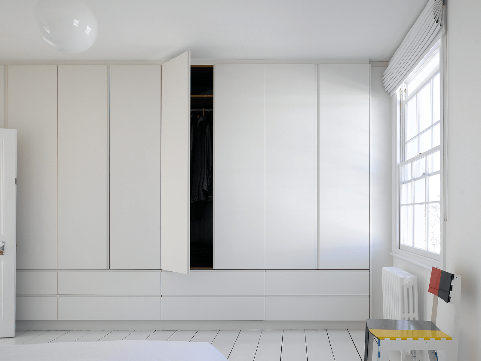 Full Height Simple White Wardrobes & Drawers from Roundhouse Design
