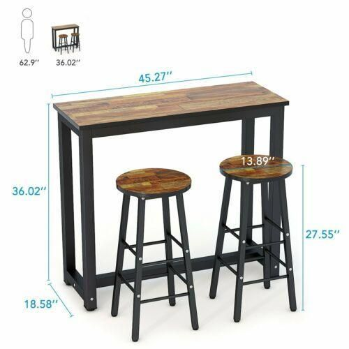 Furniture set pub table 3 piece bar stools dining kitchen counter height chairs
