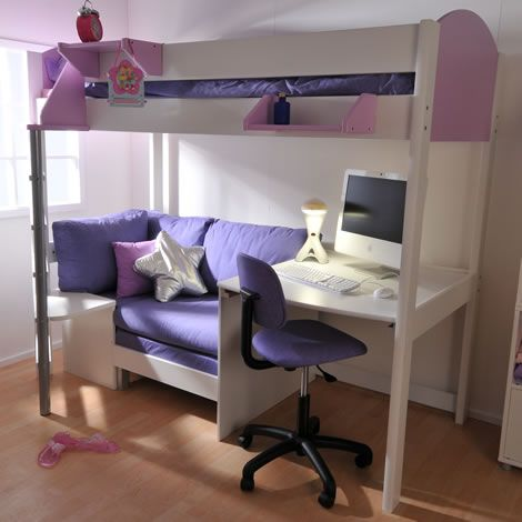 Futon Bunk Bed with Desk Pictures, love this, my girls would love this too…