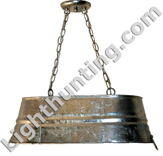Galvanized Bucket Light