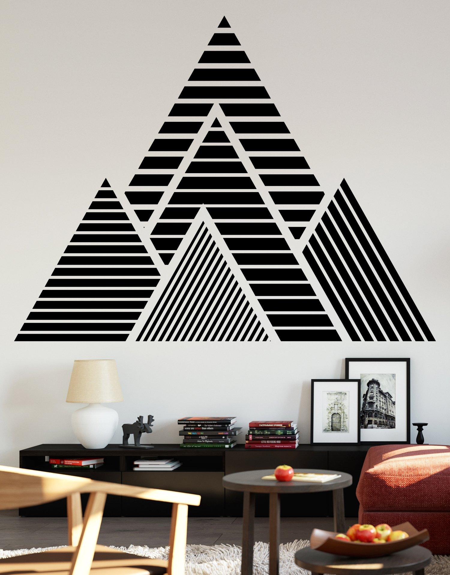 Geometric Mountains Vinyl Wall Decal Sticker  #OS_MB1247