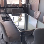 Get glam the Z Gallerie way at your next dinner party. Think mirrored furniture,...