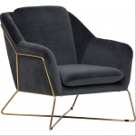 Ginua Lounge Chair, Grey... by High Fashion Home   Havenly