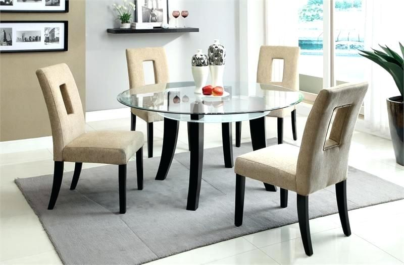 Glass Kitchen Table And Chairs round glass dining table set round glass top kitchen tables and chairs RLUKDLH – Kitchen Ideas