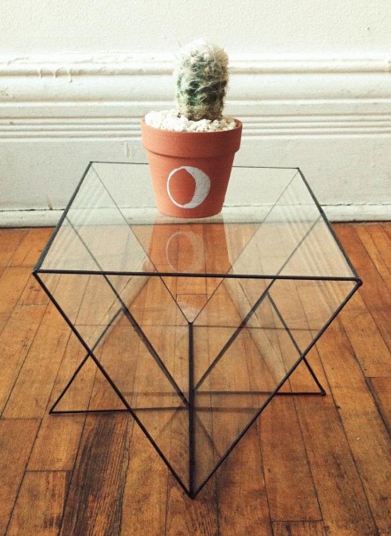 Glass geometric table