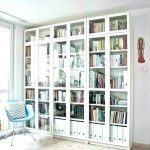 Good ikea billy bookcase glass doors images