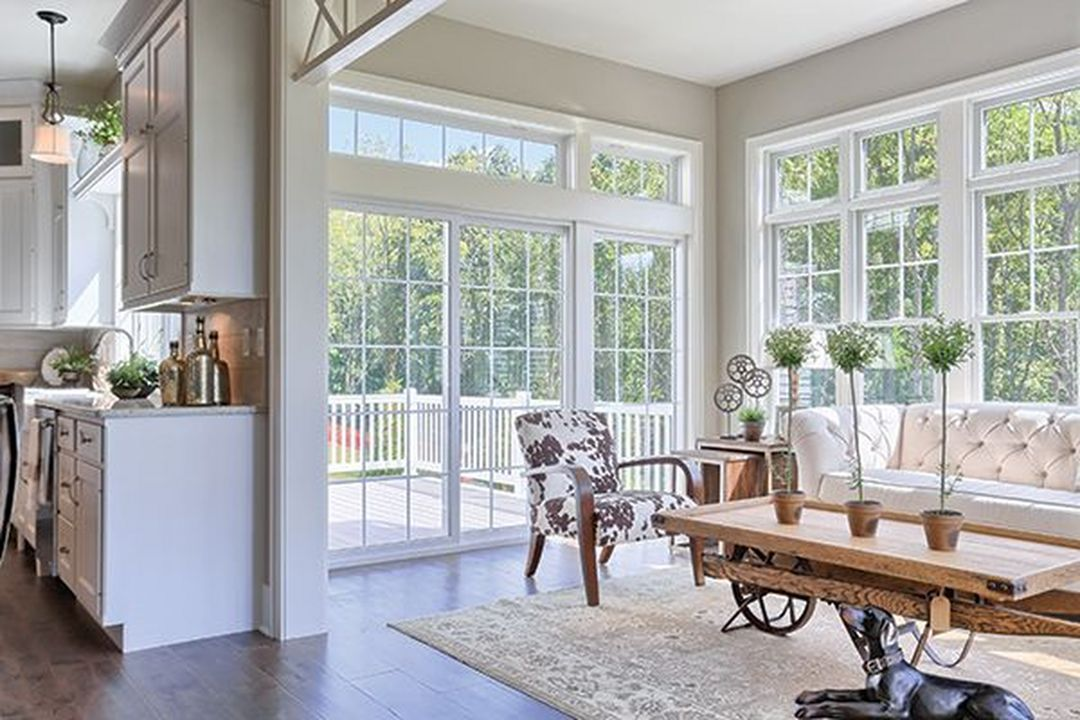 Gorgeous 30 Farmhouse Sunroom Ideas For Better Relaxing