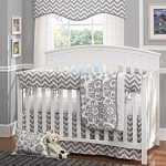 Gray Chevron Baby - Crib Set - Baby Furniture Plus Kids...and maybe add a colore...