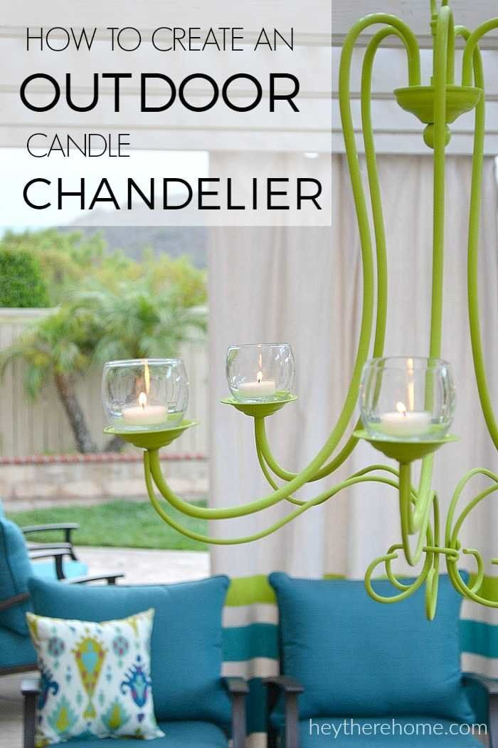 Great Budget Friendly DIY Outdoor Candle Chandelier
