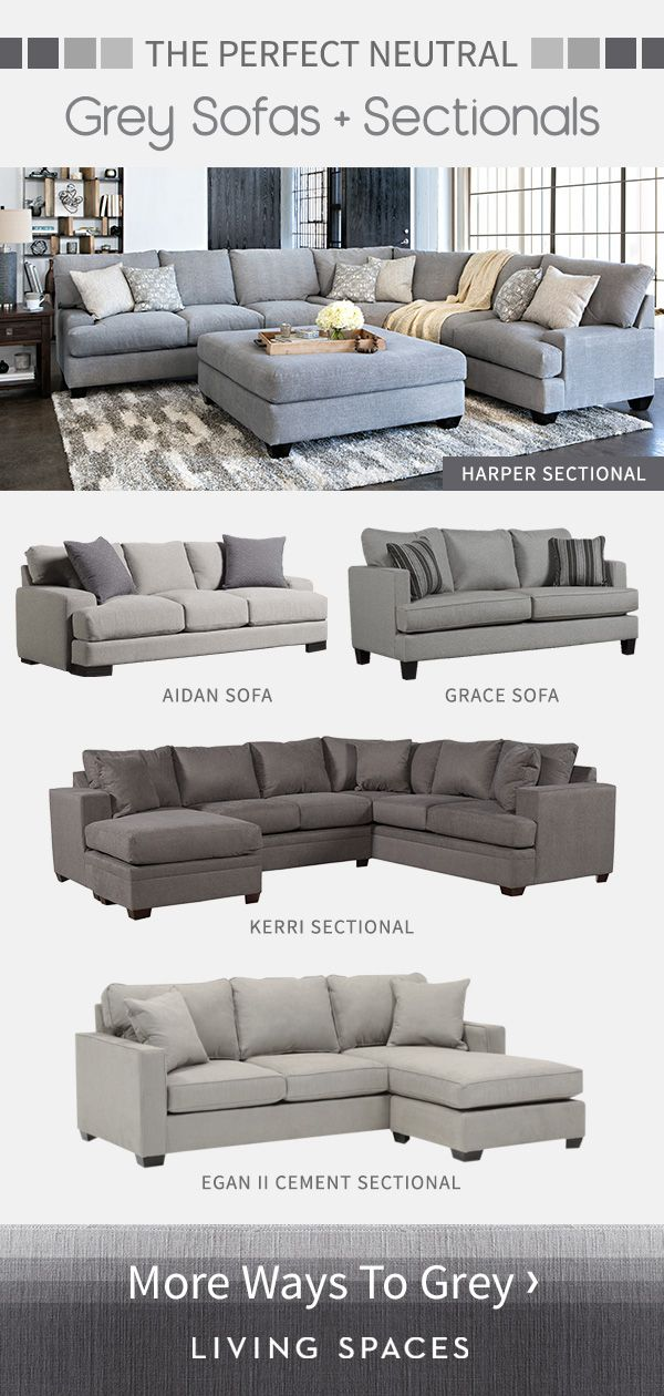 Grey sofas & sectional sofas are the perfect neutral piece for any living room. …