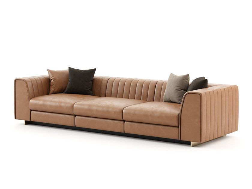 HARRY | Leather sofa Harry Collection By Laskasas