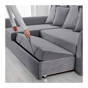 HOLMSUND Sleeper sectional, 3-seat – Nordvalla medium gray – IKEA