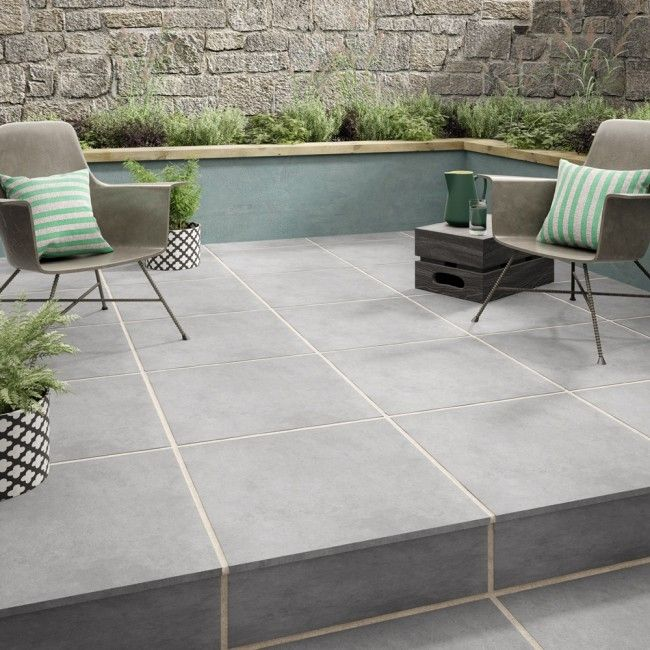 Habitat Grey 2CM | Outdoor Tiles | Porcelain Superstore