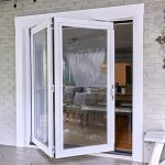 Half-way closed patio door from exterior of home - pickndecor.com/furniture
