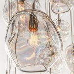 Hand Blown Glass Pendant Lights Awe Inspiring John Pomp Infinity 11w X In Interi...