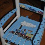 Handpainted Rocking Chair-Kids Rocking Chairs-Rocking Chair-Nursery Furniture-Baby Shower-Toddler Gift-Transportation-Trains-Cars-Toddler