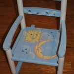 Handpainted Rocking Chair-Kids Rocking Chairs-Rocking Chair-Rocker-Nursery Furniture-Baby Shower-Toddler Gift-Celestial-Sun-Moon-Star