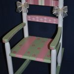 Handpainted Rocking Chair-Kids Rocking Chairs-Rocking Chair-Rocker-Nursery Furniture-Baby Shower-Toddler Gift-Floral Patchwork-Girl
