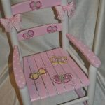 Handpainted Rocking Chair-Kids Rocking Chairs-Rocking Chair-Rocker-Nursery Furniture-Baby Shower-Toddler Gift-Whimsical Pink Butterfly