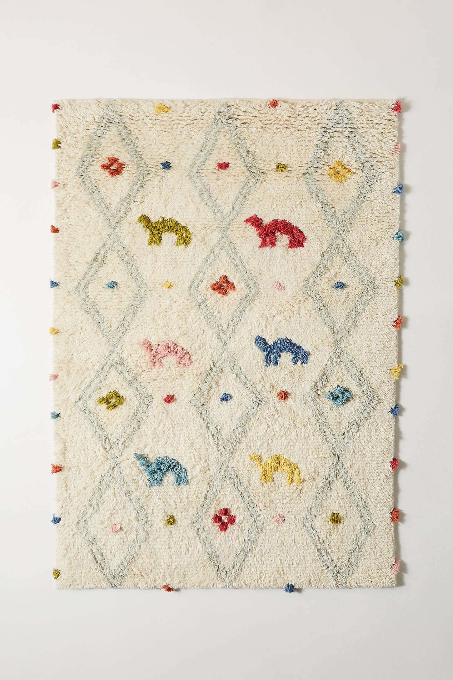 Handwoven Beni Kids Rug by Anthropologie in Assorted,
