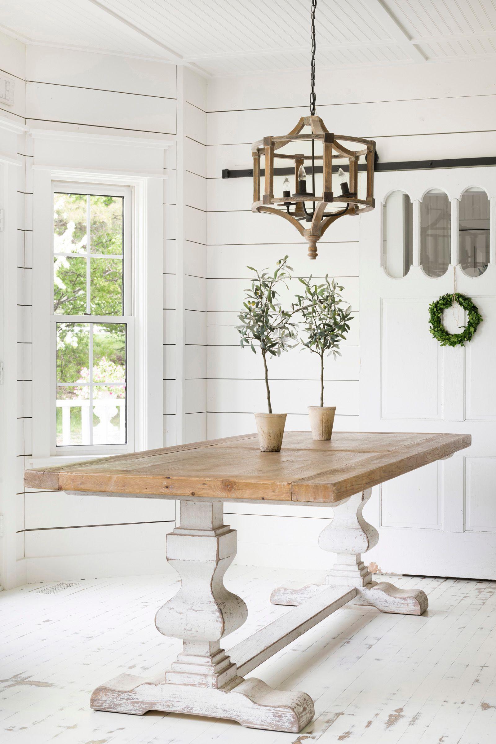 Hannah White Trestle Table
