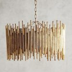 Harlow & Thistle - Home Design - Lifestyle - DIY: DIY Gold Light - Anthropologie Hack