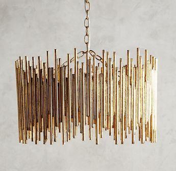 Harlow & Thistle – Home Design – Lifestyle – DIY: DIY Gold Light – Anthropologie Hack