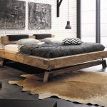 Hasena Bloc Stabil Inca Nakio Character Solid Oak Bed in a Vintage Finish