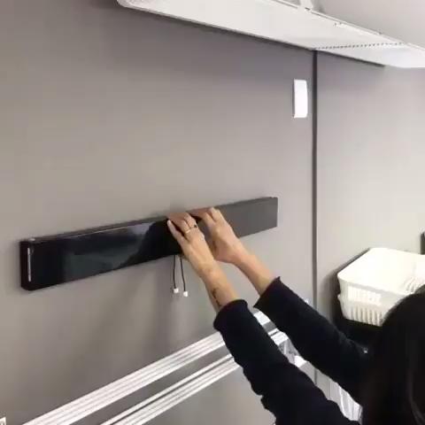 Hidden wall rack laundry room ideas
