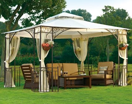 High Quality 10′ x 12′ Outdoor Gazebo with Mosquito Netting