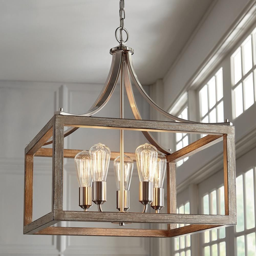 Home Decorators Collection 7949HDC Boswell Quarter 5-light Brushed Nickel Pendant for sale online   eBay