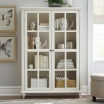 Home Decorators Collection Hamilton Polar White Glass Door Bookcase 9787300410 - The Home Depot