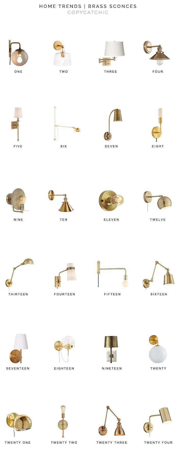 Home Trends | Brass Sconces – copycatchic