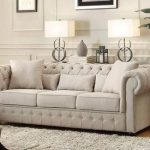 Homelegance Grand Chesterfield Sofa Upholstered Button Tufted Fabric