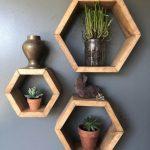 Honeycomb Shelves | Set of 3 | Honeycomb Wood Shelves | Hexagon Shelves | Hexagon Cubbies | Floating Shelf | Geometric Shelf | Wood Shelfs