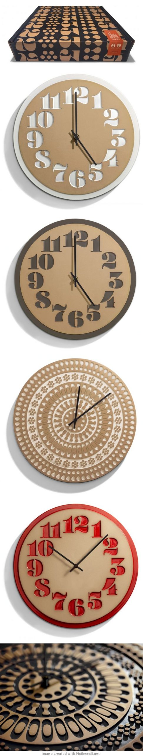 House Industries & Heath Ceramics Clocks