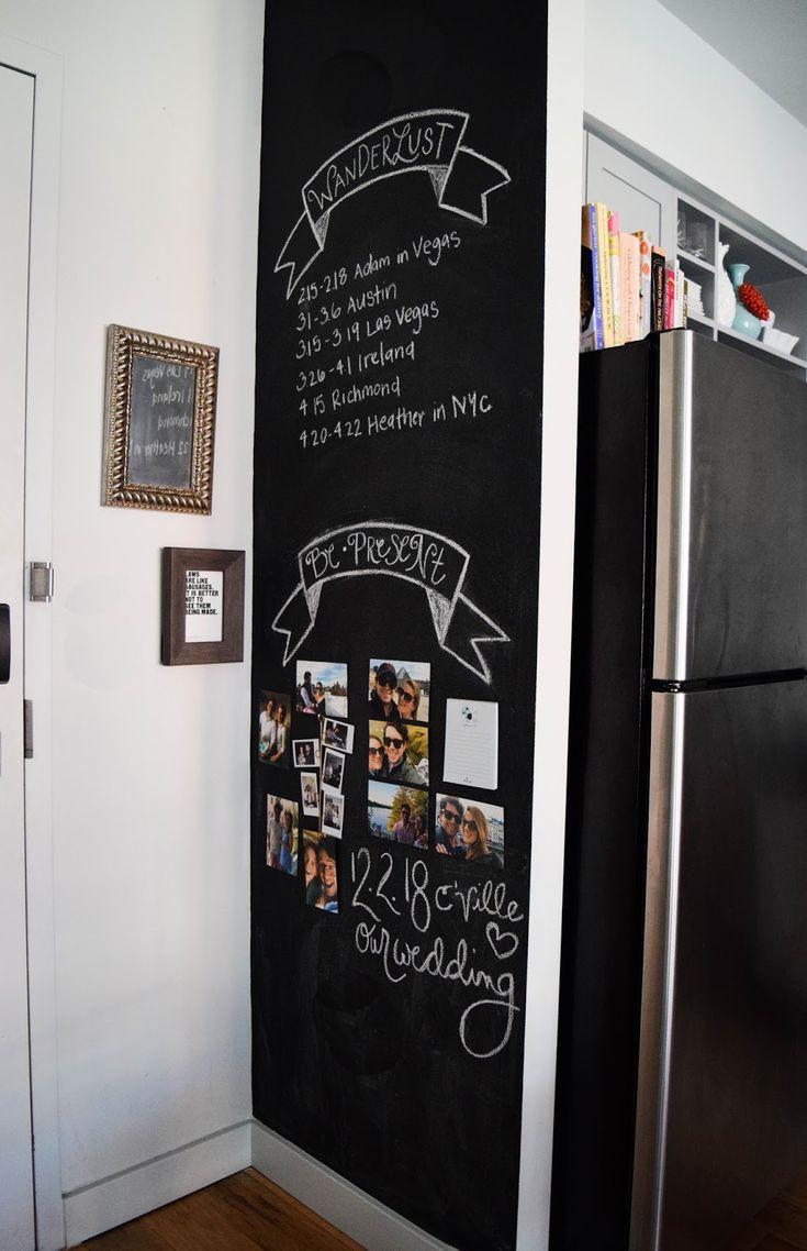 How To Design a Kitchen Chalkboard Wall – Heather Bien