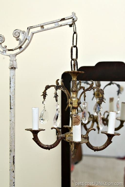 How To Display A Vintage Chandelier – Petticoat Junktion